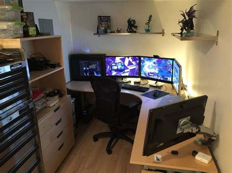 battlestation   gaming room setup home office