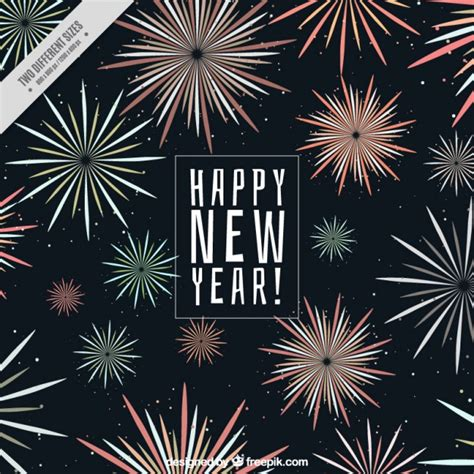 best color schemes for new years backrground new year background with fireworks in different colors vector free