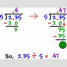 Decimals  Cool Math Prealgebra Help Lessons  How To Divide A Decimal By A Whole Number