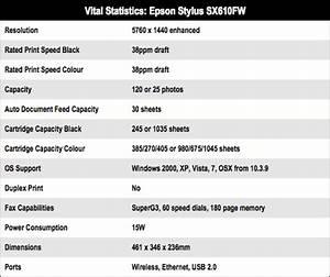 Epson Stylus Sx610fw  U2022 The Register
