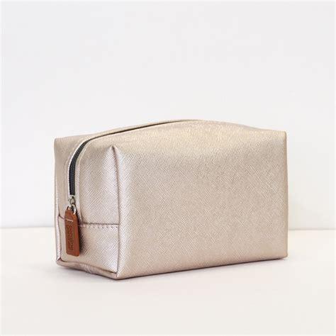 cosmetic bag cube cosmetic bag gold metallic caroline gardner uk