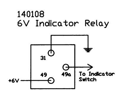 6v electronic flasher relay