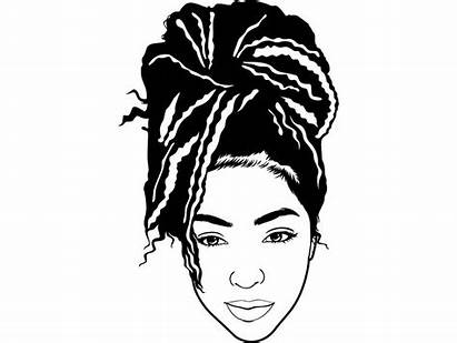 Svg Locs Afro Woman Braids Dreads Hairstyle