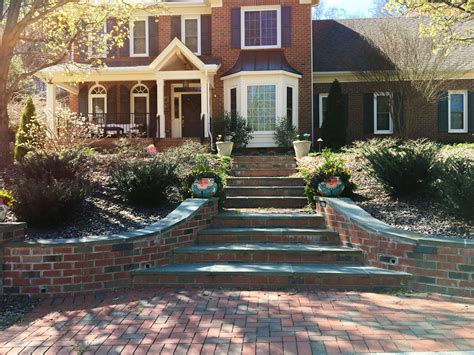 exterior makeover  clay paver walkways steps  drives