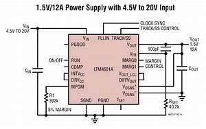 Ltm4601a 1 5v  12a  U7535 U6e90 U5177 4 5v  U81f3 20v  U8f93 U5165 Circuit Collection