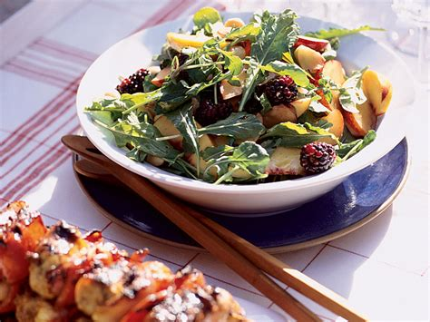 Mothers Day Brunch Suzanne Goin by Summer Fruit Salad With Arugula And Almonds Recipe