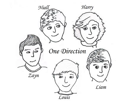 One Direction Coloring Pages Free And