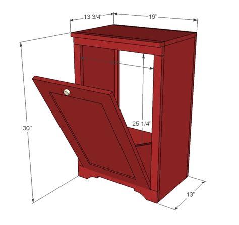 tilt  trash cabinet woodworking plans woodshop plans