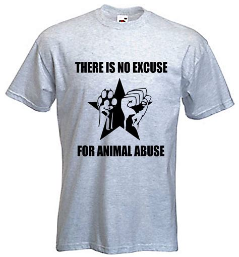 no excuse for animal abuse t shirt rights liberation vegan vegetarian comical shirts s in t