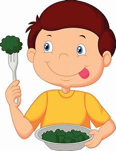 Child Eating Vegetables Clipart - ClipartXtras
