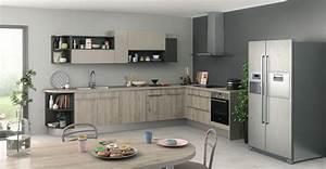 Peinture murale cuisine gris taupe avec decoration cuisine for Idee deco cuisine avec cuisine en gris et blanc