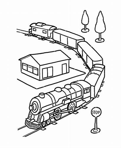 Coloring Pages Train Vehicles Toy Vehicle Cars