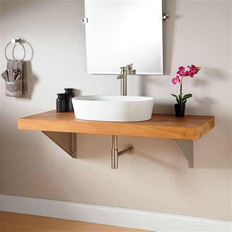 Wall Mount Wrought Iron Console Vanity For Vessel Sink