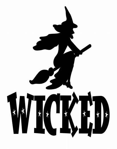 Wicked Vinyl Witch Halloween Stencils Stencil Silhouette