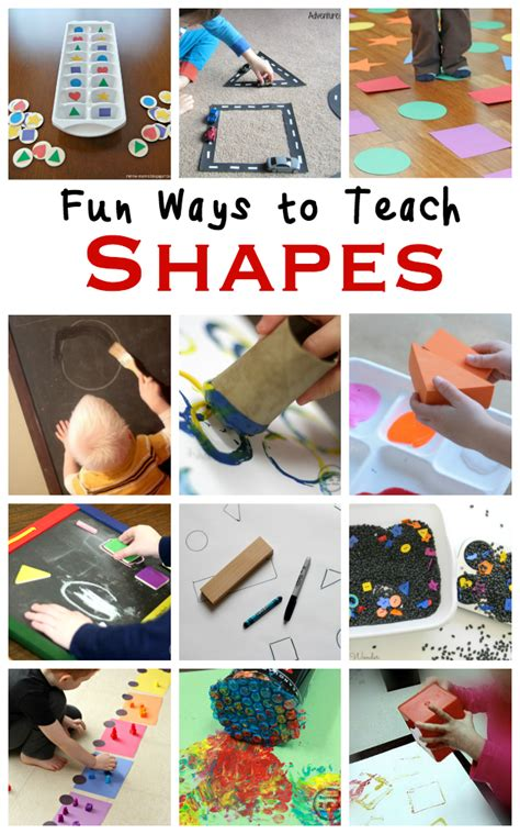 how to teach shape recognition to preschoolers with 747 | Shape Recognition Activities