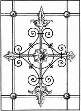 Dover Coloring Ironwork Publications Traditional Doverpublications sketch template