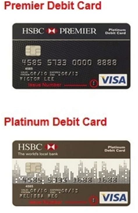 hsbc si e social where is the issue number on a visa debit card quora