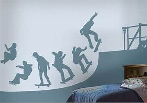 skate halfpipe wall decals stickers With good look skateboard wall decals