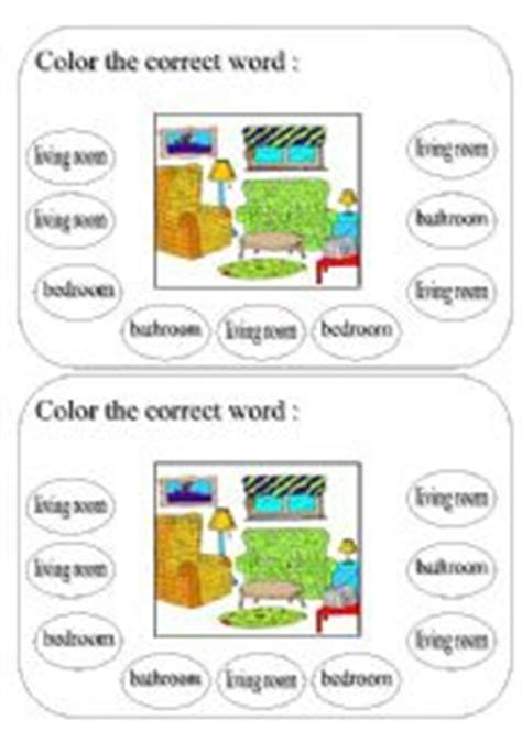 english worksheets living room