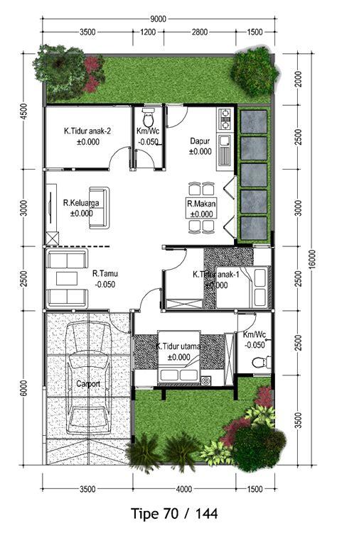 denah rumah type  terbaru desain denah rumah minimalis