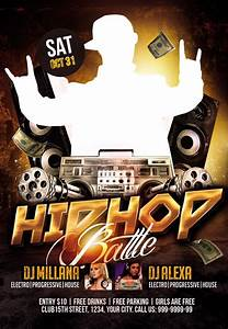 Art Flyer Template Club Flyer Psd Template Hip Hop Battle Nitrogfx