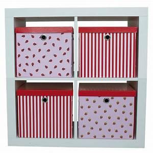 Aufbewahrungsboxen Kinderzimmer Design : aufbewahrungsbox sterne punkte rot von jabadabado kaufen ~ Whattoseeinmadrid.com Haus und Dekorationen