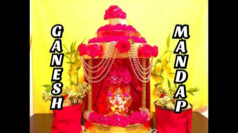 easy ganesh mandap  description box youtube