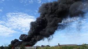 Tyres fire causes plume of smoke on Isle of Wight ...