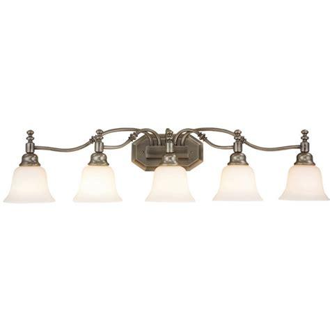 Bathroom 5 Light Fixtures by Bel Air Lighting Madonna 5 Light Antique Nickel Bathroom