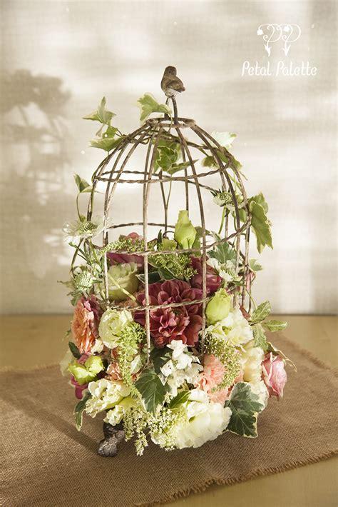 birdcage flower arrangement design seoul florist petal
