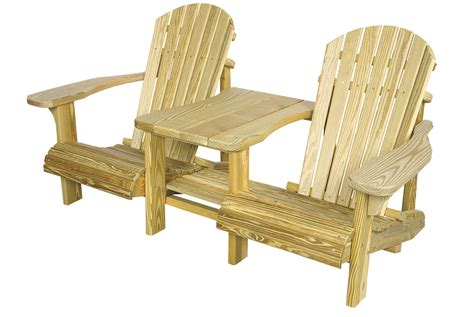 adirondack settee wooden outdoor furniture king tables