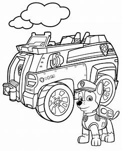 Paw Patrol Picture To Color Chase