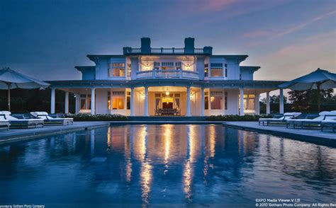 million  square foot waterfront mansion  water mill ny homes   rich
