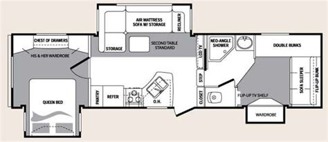 two bedroom fifth wheel 2 bedroom fifth wheel floor plans floor matttroy