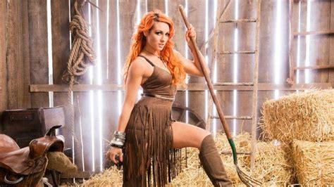 Becky Lynch Dyed Hair Redhead Orange Hair Wwe