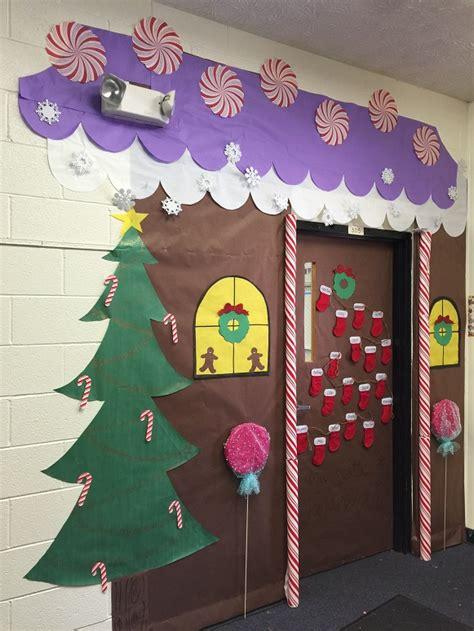 gingerbread house classroom door addisons wonderland