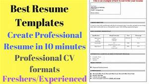 best resume templates create professional resume in 10 With create a professional resume in minutes