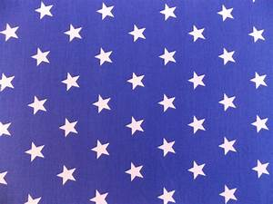 Royal Blue with 20mm White Stars 100% Cotton Fabric