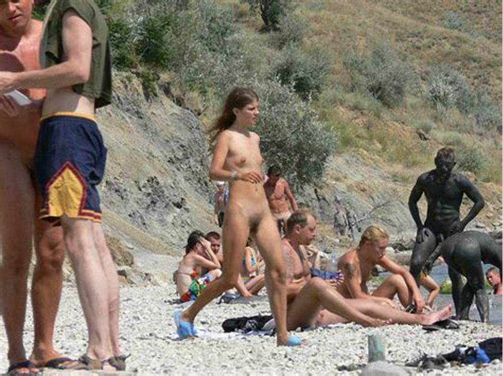 #Young #Nudist #Friends #Naked #Together #At #The #Beach