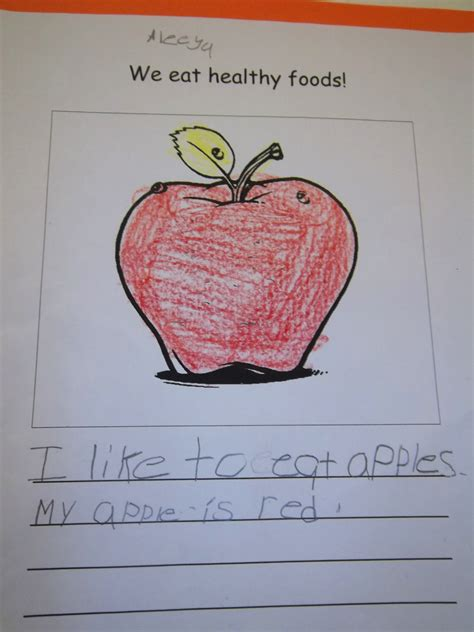 kindergarten   healthy food lunchroom poster