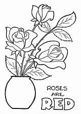 Coloring Rose Pages Roses Flowers Printable Sheets Worksheets Preschoolers Parentune Momjunction sketch template
