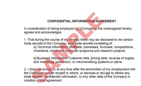employee confidentiality agreement business forms employee confidentiality agreement preview
