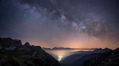 Milky Valley View from the Dolomites towards Giralba