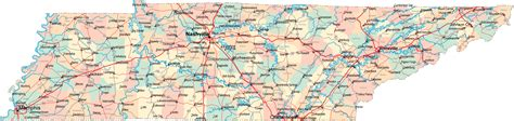 Tennessee Road Map - TN Road Map - Tennessee Highway Map