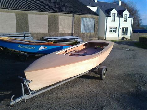 Boat Undercoating by Wooden Gp14 Racing Dinghy Painting From Bare Wood To