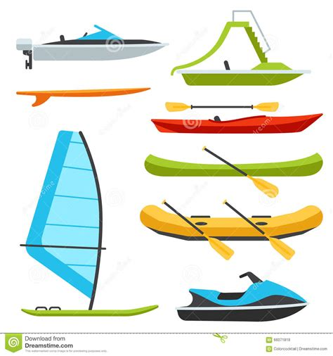 Types Of Boats by Boat Types Stock Vector Illustration Of Vacation Raft