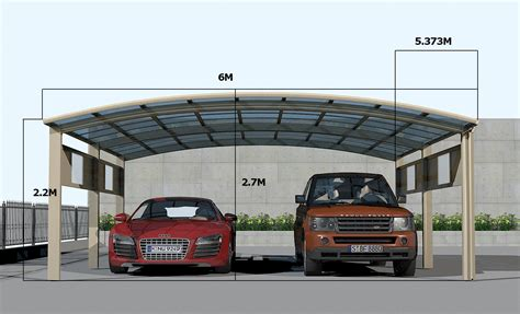 Car Metal Carport by Luxury 2 Cars Carport For Cars 6 Posts Version