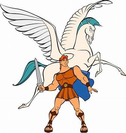 Greek Clip Cliparts Goddess Pegasus Mythology Myth