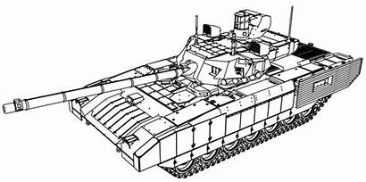 Tank Coloring Armata Blueprints Pages Drawing Cool