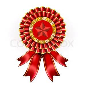 Big Red Award Label | Stock Photo | Colourbox